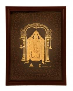 Tirupatiji Wood 24 karat gold.
