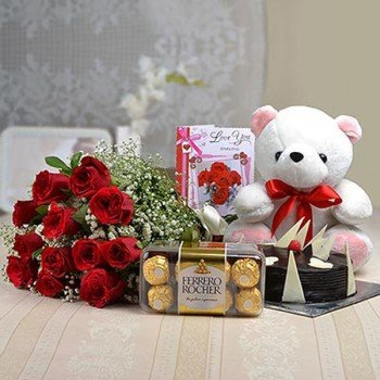 flowers-teddy-cakes-combo